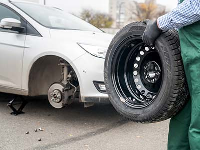 Replacing car wheel